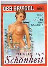 Spiegel - Nr. 41 vom 7.10.02 - OPERATION SCHÖNHEIT - Der neue Markt der Medizin-