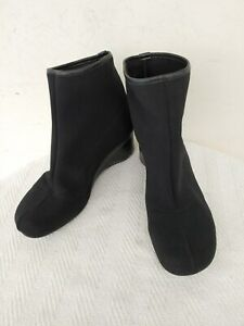 THIERRY RABOTIN Made in Italy,Black Fabric,Wedge Women's Booties,Size 7