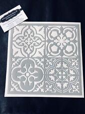 Pochoir Adhésif Réutilisable 20 x 20 cm 4 Faïences / Carreaux Ciment Vintage
