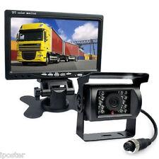 """4Pin 12/24V Motorhome Rear View Kit 7"""" TFT Monitor +CCD Backup IR Camera Caravan"""