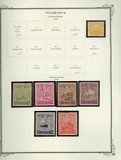 NICARAGUA Scott Specialty Album Page Lot #25 - SEE SCAN - $$$