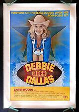 DEBBIE DOES DALLAS * CineMasterpieces ADULT ORIGINAL MOVIE POSTER 1978 RATED X