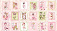 "Breast Cancer Awareness On The Mend Loralie Harris Cotton Fabric 24"" Panel"