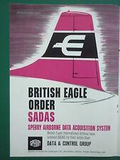 12/1965 PUB SPERRY BRITISH EAGLE AIRLINES SADAS AIRBORNE ACQUISITION SYSTEM AD