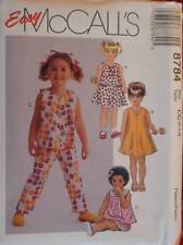 8784 Vintage McCalls Sewing Pattern Toddler Girls Dress Top Pants Easy Uncut Ff