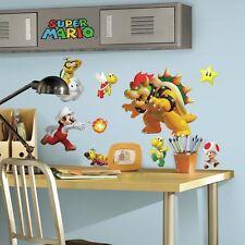 35 SUPER MARIO NINTENDO GAME BIG Wall Decals Stickers Bowser YOSHI Room Decor
