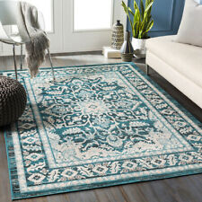 Traditional Oriental Medallion Teal Area Rug **FREE SHIPPING**