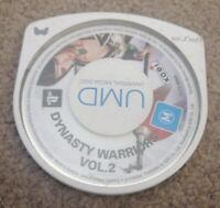 Dynasty Warriors Vol. 2 PSP PlayStation Portable **Game Disc only**
