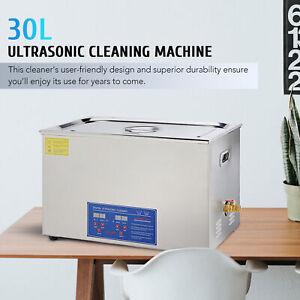 Digital 30L Ultrasonic Cleaner Timer Tank Heat Ultra Sonic Cleaning Machine