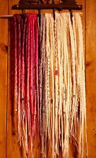 CUSTOM SYNTHETIC DREADLOCKS DREADS X 30 WITH WRAPS & BEADS INCLUDES FITTING KIT