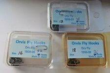 Lot 124 Pc Orvis 1509 Dry size 12 16 & 18 For Fly Tying Hooks Material Supplie