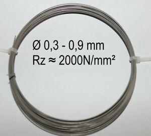 Federstahldraht V2A Edelstahl 0,25-0,9 mm 10-20m Federdraht rostfreier Draht 302