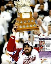 Henrik Zetterberg Signed 11x14 w/ JSA COA #R76376 Detroit Red Wings Conn Smythe