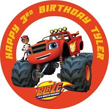 Blaze And The Monster Machines Personalised 4cm Round Stickers 24 Per Sheet