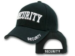 Security Cap - HI VIS - Black with Vents