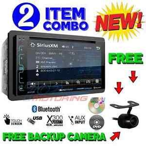 "SOUNDSTREAM DOUBLE DIN VR-65XB DVD/CD MP3 PLAYER 6.2"" LCD BLUETOOTH USB SIRIUSXM"