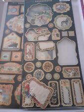 Graphic 45 Set Of 2 Chipboard Sets - Come away with me & Safari Adventure
