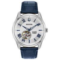 Bulova 96A206 Men's Wilton Blue Leather Strap Automatic Movement Watch
