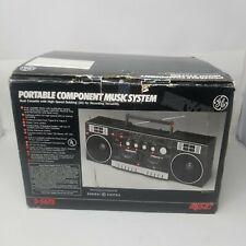 Vintage GE Boombox model 3-5675 Detachable Speakers 1980's Ghetto Blaster Radio