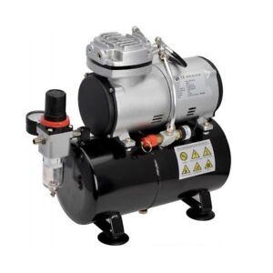 "Airbrush Mini Compressor Air 1/8 "" 3 Liter Tank Oil-Free Hobby Nailart Etc"