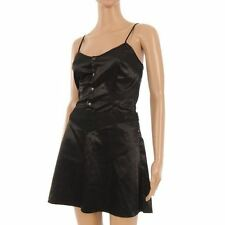 Firetrap Dress Black Sateen 'maze' Corset With Popper Front Size Small NP 364