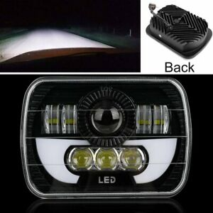 """Pair 5X7"""" 7x6"""" LED Projector Headlight Headlamp DRL For Ford Jeep Land Rover New"""