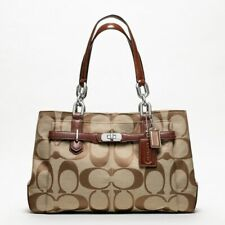 COACH CHELSEA JAYDEN BROWN KHAKI CARRY ALL SATCHEL BAG