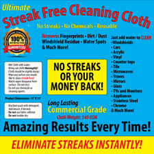 Streak Free Cleaning Cloth, Chemical Free, Car, Home, FREE SHIPPING