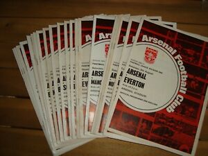 Full season of Arsenal 1969-70 home programmes (No Europe) - 24 in all
