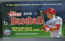 2019 Topps Heritage Baseball Factory Sealed Hobby Box