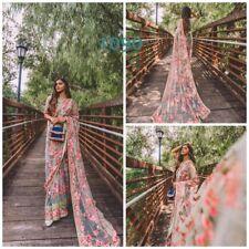Party Wear Saree Unic Designer Banglory Satin Blouse & Net Fabric Sari LG-1090