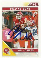 2011 Score DWAYNE BOWE Signed Card Lambeau Field CHIEFS LSU TIGERS