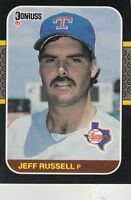 FREE SHIPPING-MINT-1987 Donruss Texas Rangers Baseball Card #550 Jeff Russell