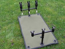 Carp fishing reel splash mat ground sheet made from green cordura 600 x 350mm