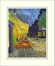Van Gogh Café Cafe Terrace on the Place du Forum 10 x 8 Inch Mounted Art Print