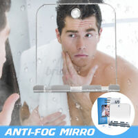 Fogless Bathroom Mirror Shower Shaving Holder Razor Suction Cup Rack Tool