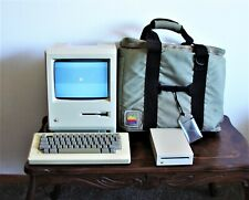 Model 0001 Macintosh Computer 1980s With Case & More Works!!!
