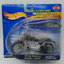 NEW Harley-Davidson Springer Softail Hot Wheels 1:18 Diecast Motorcycle Mattel
