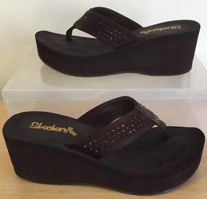Skechers Cali Women's Pin Up-Flashdrive Thong Sandals Size UK 6 EU 39