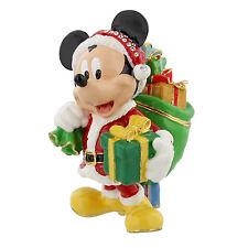 Disney Santa Mickey Mouse Hinged Metal Die Cast Trinket Box Figure 9cm DI347