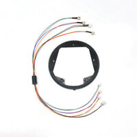 For 1/16 Henglong Tank Turret 360° Rotation Electric Slip Ring + Steering Gear