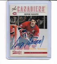 SERGE SAVARD 2012-13 Panini Classics Signatures #112 MONTREAL CANADIENS HOF GR8
