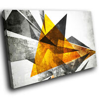 ZAB1566 Yellow Black White Modern Canvas Abstract Home Wall Art Picture Prints