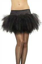 Tutu Frilly New Adult Womens Halloween Cristmas Womens by Fever Black One Size