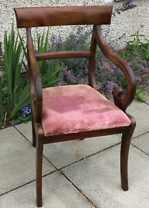 Georgian? Mahogany Desk Elbow Chair. Some Antique Fixes. Beautiful.