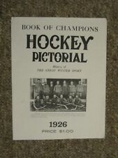 1926 Hockey Book of Champions Pictorial.EXTREMELY RARE!