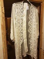 Ann Summers Kalena White  Ivory  Kimono Dressing Gown Size Small 8 - 10 NWT