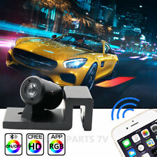 2 LED RGB APP Control Angel Wings Welcome Lights Car Door Courtesy Bluetooth Kit