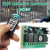 4CH Wireless Remote Control Switch Module Learning Code Household AC 220V DC