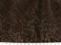 "Beldon Mink Brown Textured Velvet Feel Upholstery Fabric 54"" Wide By The Yard"